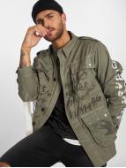 VSCT Clubwear Winterjacke Handpaint Military grau