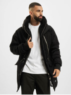 VSCT Clubwear Double Zipper Huge Luxury Parka Black