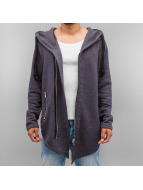 VSCT Clubwear Zip Hoodie Hooded Luxury Asym Sweat grau