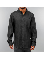 Wemoto Hemd Raylon Button Down schwarz