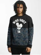 Who Shot Ya? Пуловер Darkcamou черный