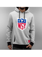 Who Shot Ya? Hoody Collegebro grau