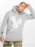 Who Shot Ya? Hoody Logo grau