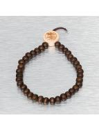 Wood Fellas Браслет Deluxe Pearl коричневый