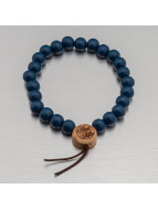 Wood Fellas armband Deluxe Pearl blauw