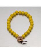Wood Fellas armband Deluxe Pearl geel