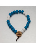 Wood Fellas Bracelet Deluxe Pearl bleu