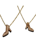 Wood Fellas Collier High Heels brun