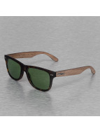Wood Fellas Eyewear Lehel Polarized Mirror Sunglasses Walnut/Havanna/Green Lens