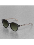 Wood Fellas Eyewear Solln Polarized Mirror Sunglasses Black/Green Lens