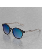 Wood Fellas Eyewear Solln Polarized Mirror Sunglasses Black/Blue Lens
