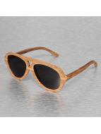 Wood Fellas Eyewear Zonnebril Tulaben Handmade bruin