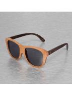 Wood Fellas Eyewear Zonnebril Lundu Handmade bruin