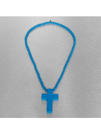 Wood Fellas Kette Wood Fellas Simple Cross blau