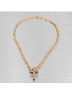 Wood Fellas ketting In God We Trust beige