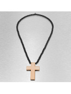 Wood Fellas ketting Simple Cross bruin
