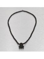 Wood Fellas Necklace Star Skull black