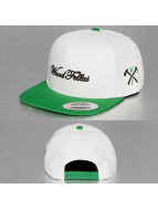 Wood Fellas Snapback Script blanc