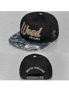 Wood Fellas Snapback Caps Da Wood musta