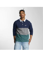 Wrung Division Longsleeve Park Polo blauw