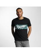 Wrung Division T-skjorter Flow svart