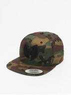 Wu-Tang Snapback Cap Camo Logo schwarz