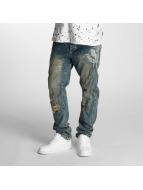 Yakuza Antifit jeans Skelleton blå