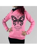 Yakuza Bluzy z kapturem Moth pink