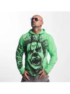 Yakuza Bluzy z kapturem Allover King zielony