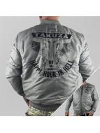 Yakuza Bomber jacket Happy Hour gray