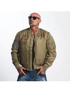Yakuza Bomber jacket Sxck And Fxck green