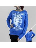 Yakuza Camiseta de manga larga Into Your Heart Wide Crew azul