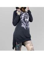 Yakuza Camiseta de manga larga Skull Hooded azul