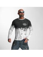 Yakuza Camiseta de manga larga Splatter blanco