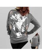 Yakuza Camiseta de manga larga An Angels Wide Crew gris