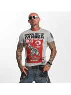 Yakuza Chockin Victim T-Shirt Light Grey Melange
