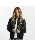 Yakuza Meduse Crop Bomber Jacket Black