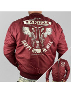Yakuza Cazadora bomber Happy Hour rojo