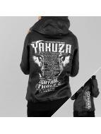 Yakuza Chaqueta de cuero Commandments negro