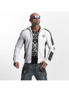 Yakuza Punx Two Face Zipper Jacket White