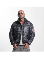 Yakuza Trashed Quilted Jacket Black/Grey
