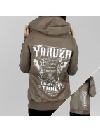 Yakuza Chaqueta de entretiempo Commandments marrón