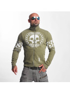 Yakuza Skull Label Jacket Covert Green