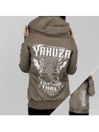 Yakuza Giacca in pelle Commandments marrone