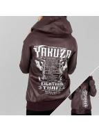 Yakuza Commandments Faux Leather Jacket Bordeaux