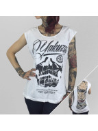 Yakuza Hihattomat paidat L.A. Skull Cutted valkoinen