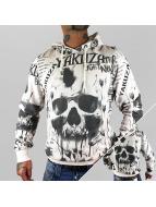 Yakuza Hoodie Skull Allover white