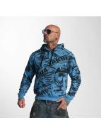 Yakuza Hoody Gunner Allover blauw