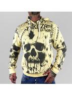 Yakuza Hoody Skull Allover geel