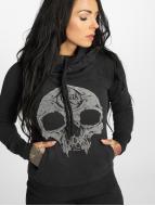 Yakuza Hoody Velvet Skull II zwart